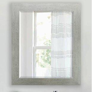 Compare Tirado Brushed Silver Beveled Wall Mirror ByBrayden Studio