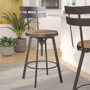 Sylvania Adjustable Height Swivel Bar Stool by 17 Stories