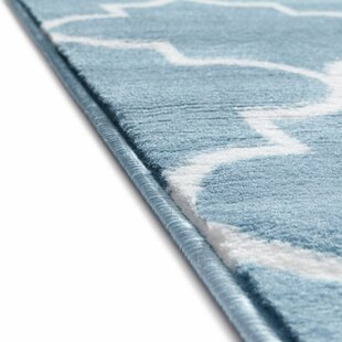 Ruark Modern Blue Geometric Trellis Area Rug byWrought Studio