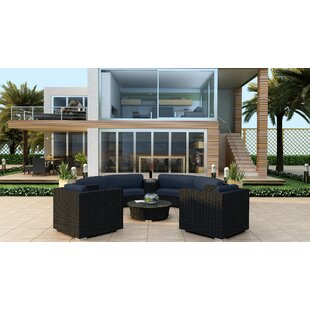 Azariah 6 Piece Curved Sectional Set with Cushions