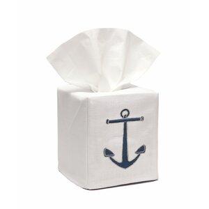 Anchor Linen Tissue Box Cover