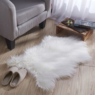 Bargain Coria Long Pile White Area Rug By Union Rustic