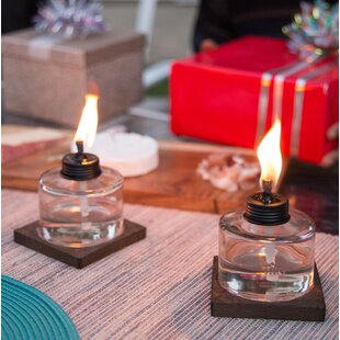 TIKI Brand Mixed Material Votive Glass Tabletop Torch (Set of 3)