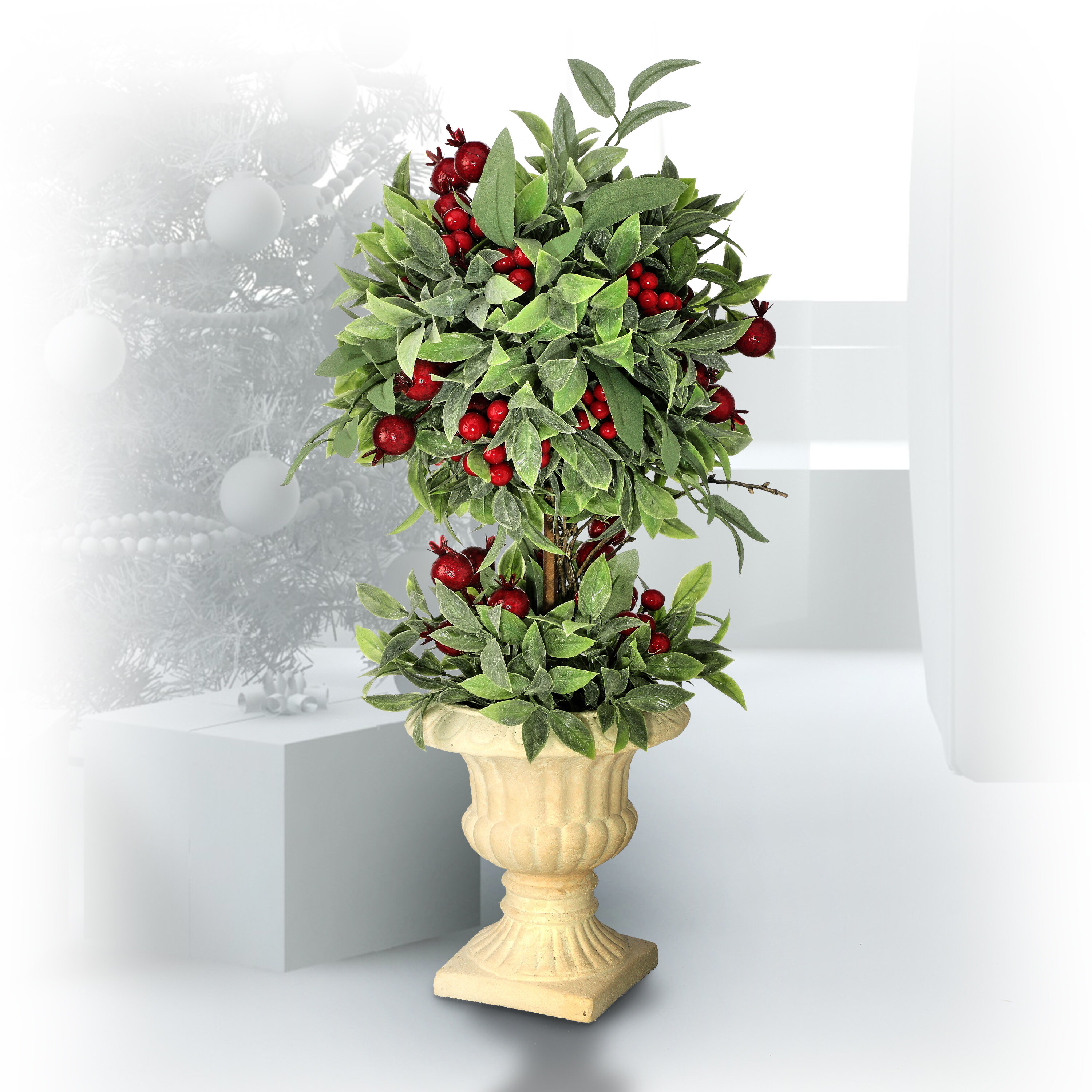 Primrue Artificial Ivy Topiary In Urn Wayfair