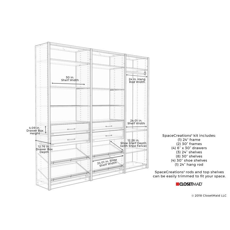 Ecreations 90 W Closet System