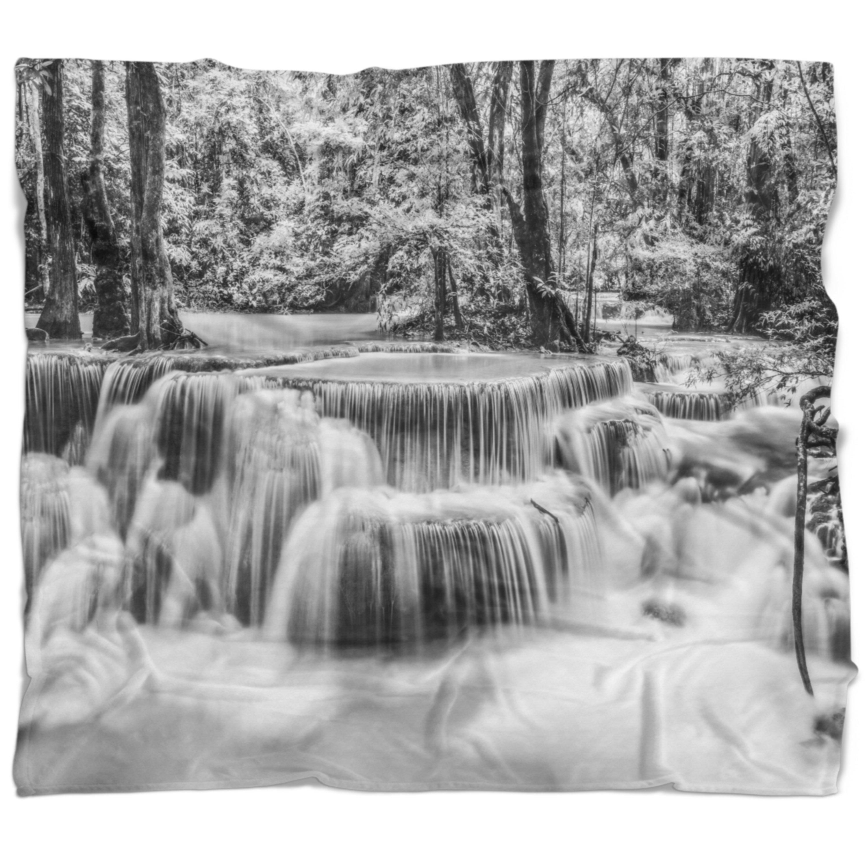 East Urban Home Landscape Photography Erawan Waterfall Blanket Wayfair