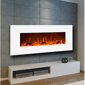 Ivory Wall Mounted Electric Fireplace