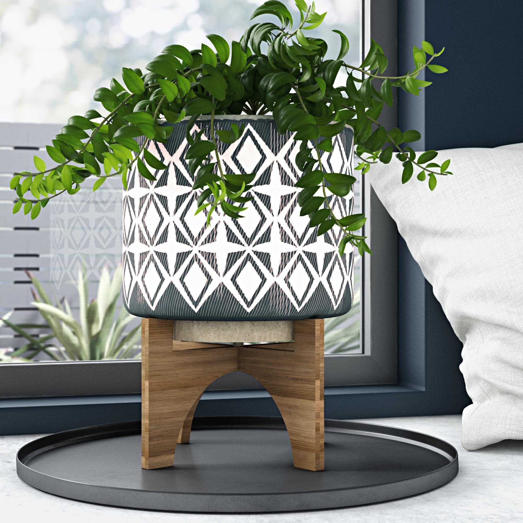 Abdera Ceramic Pot Planter Reviews Allmodern