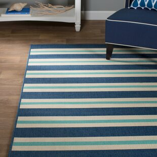 Springwater Blue Indoor/Outdoor Area Rug by Beachcrest Home