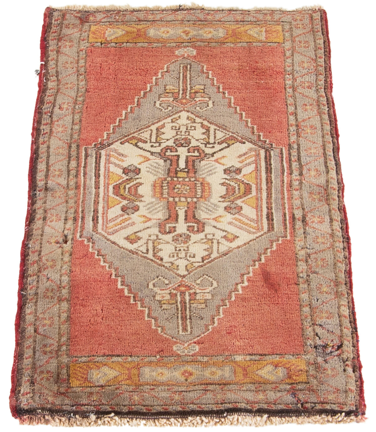 World Menagerie One Of A Kind Farthin Hand Knotted 2010s Ushak Red 8 X 9 10 Wool Area Rug Wayfair