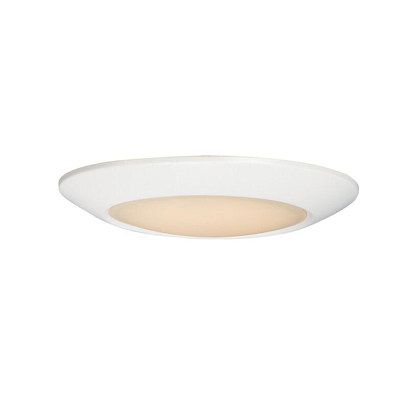 Ebern Designs Lospalmos 1 Light 6 25 Simple Circle Led Flush Mount Wayfair