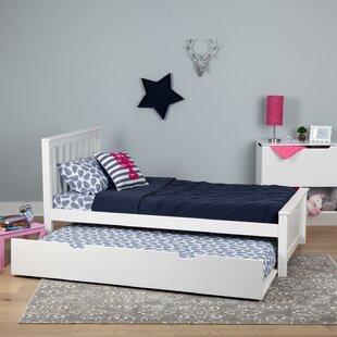 Boling Solid Wood Twin Platform Bed with Trundle by Harriet Bee