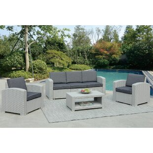 Antoinette Coastal 4 Piece Sofa Set with Cushions by Darby Home Co