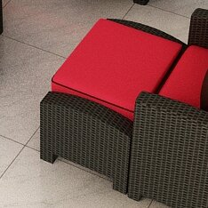 Forever Patio Barbados Ottoman with Cushion