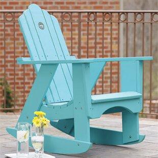 Original Wood Rocking Adirondack Chair