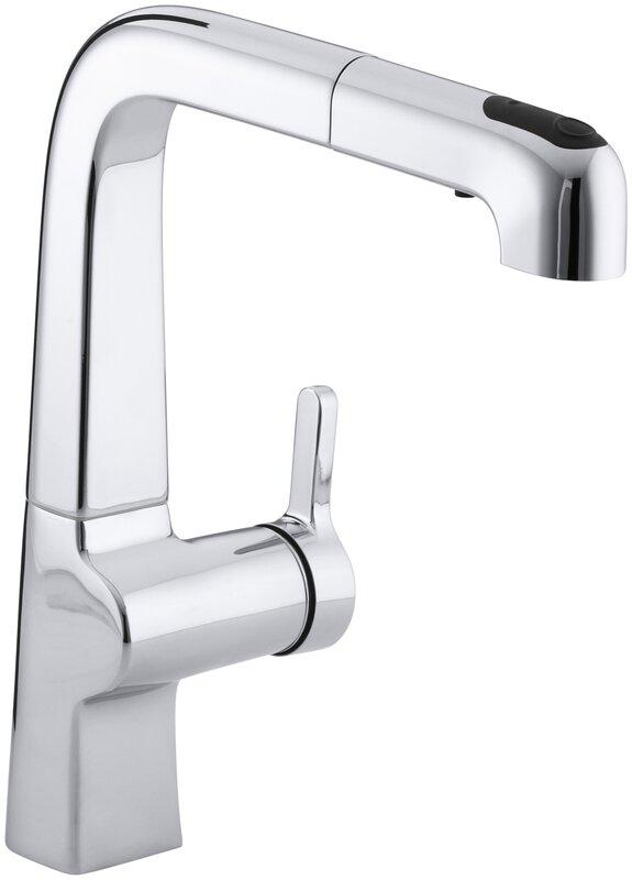K-6331-CP,VS Kohler Evoke Single-Hole Kitchen Sink Faucet with 9 ...