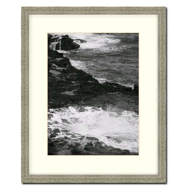 Frame In Distressed Silver Ornate