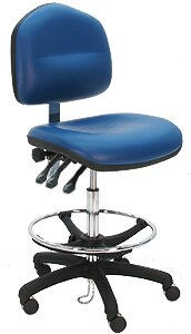 Adjustable Cleanroom Lab Drafting Chair with Cushion