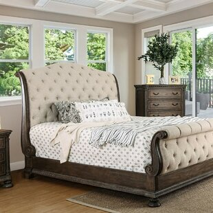 Compare Vincenzo Upholstered Sleigh Bed by Astoria Grand Reviews (2019) & Buyer's Guide