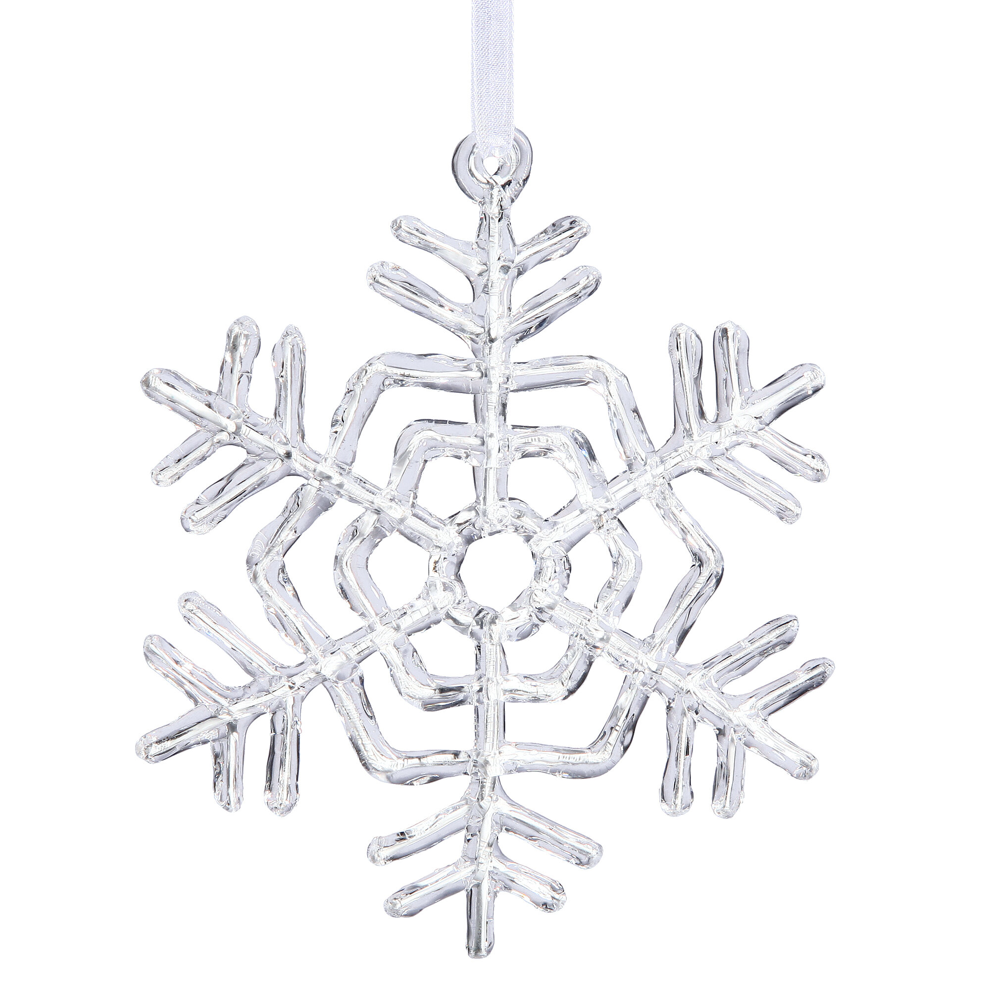 The Holiday Aisle Acrylic Snowflake Holiday Shaped Ornament Wayfair