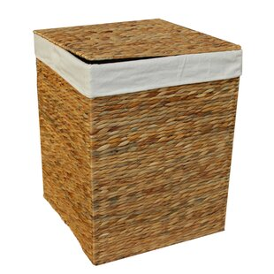 Square Wicker Laundry Bin By August Grove