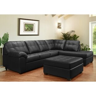 Yarber Leather Sectional with Ottoman
