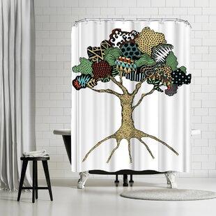 East Urban Home Patricia Pino Tree Shower Curtain