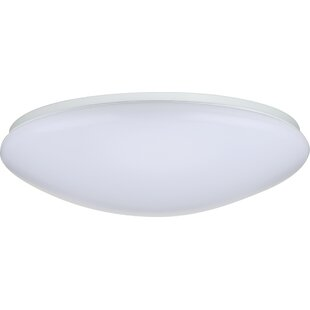 Compare Dahlstrom 1-Light LED Outdoor Flush Mount By Ebern Designs