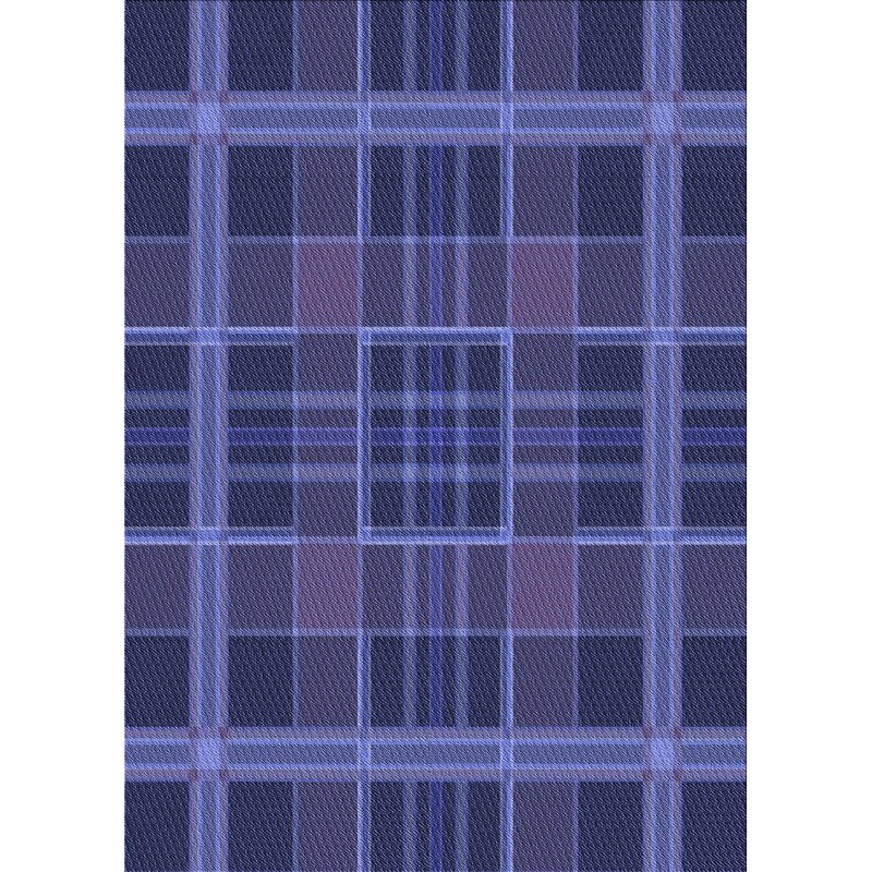 East Urban Home Plaid Wool Blue Area Rug Wayfair