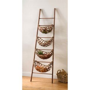 Top Reviews Ladder with Copper Basket By Bayou Breeze
