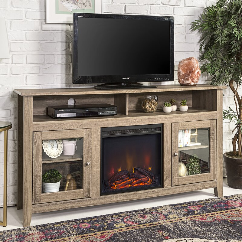 Zipcode design kohn 58 tv stand with fireplace reviews wayfair kohn 58 tv stand with fireplace solutioingenieria Gallery