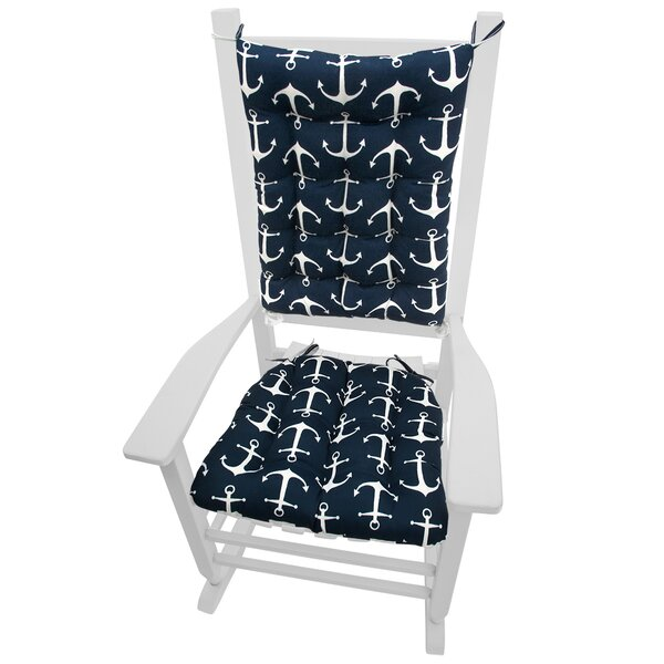 Barnett Home Decor Coastal Indoor/Outdoor Rocking Chair Cushion U0026 Reviews |  Wayfair