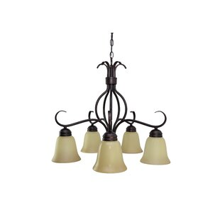 Three Posts Birdsall 5-Light Shaded Chandelier
