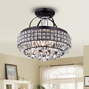 Ebony 4-Light Semi-Flush Mount by House of Hampton