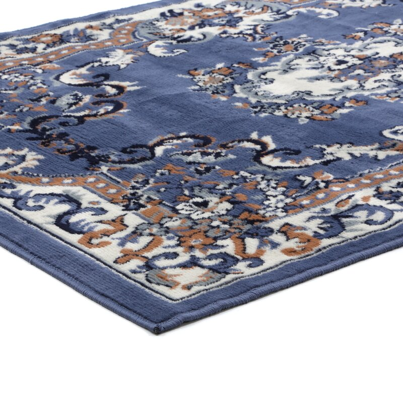 Lilly Country Blue Area Rug