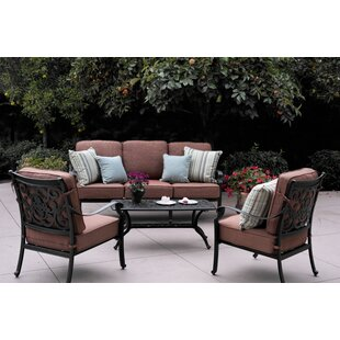 Astoria Grand Mccraney 4 Piece Sofa Set with Cushions