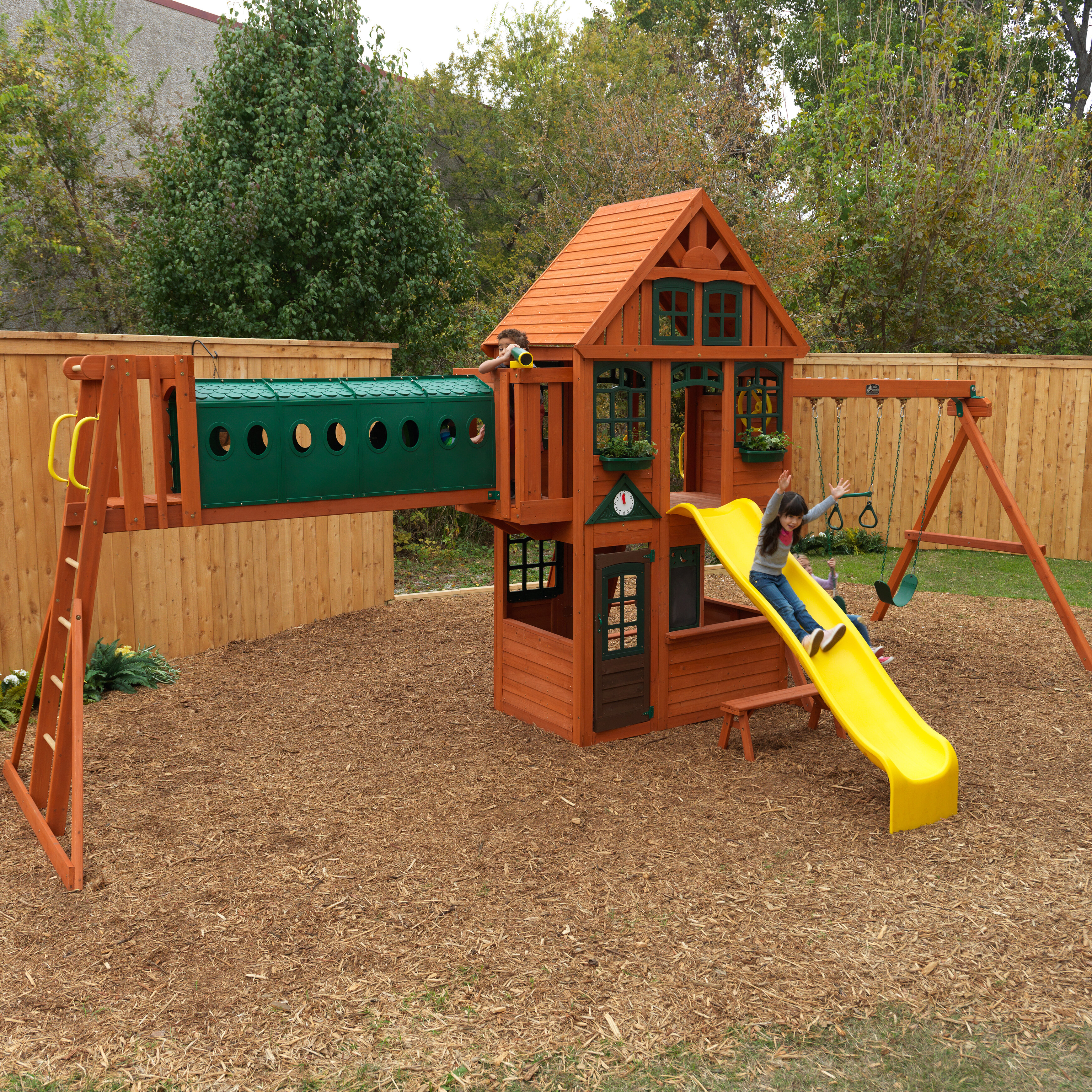 Kidkraft Huntington Resort Wooden Swing Set Wayfair