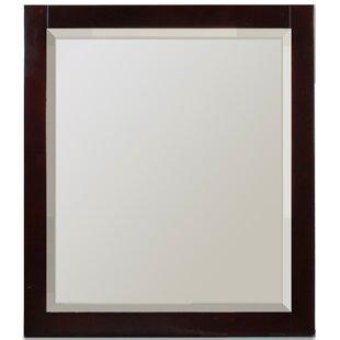 Latitude Run Cully Rectangle Wood Wall Mirror