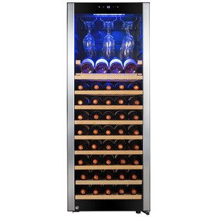 56 Bottle Touch Panel Single Zone Freestanding Wine Cooler by AKDY 2019 Coupon
