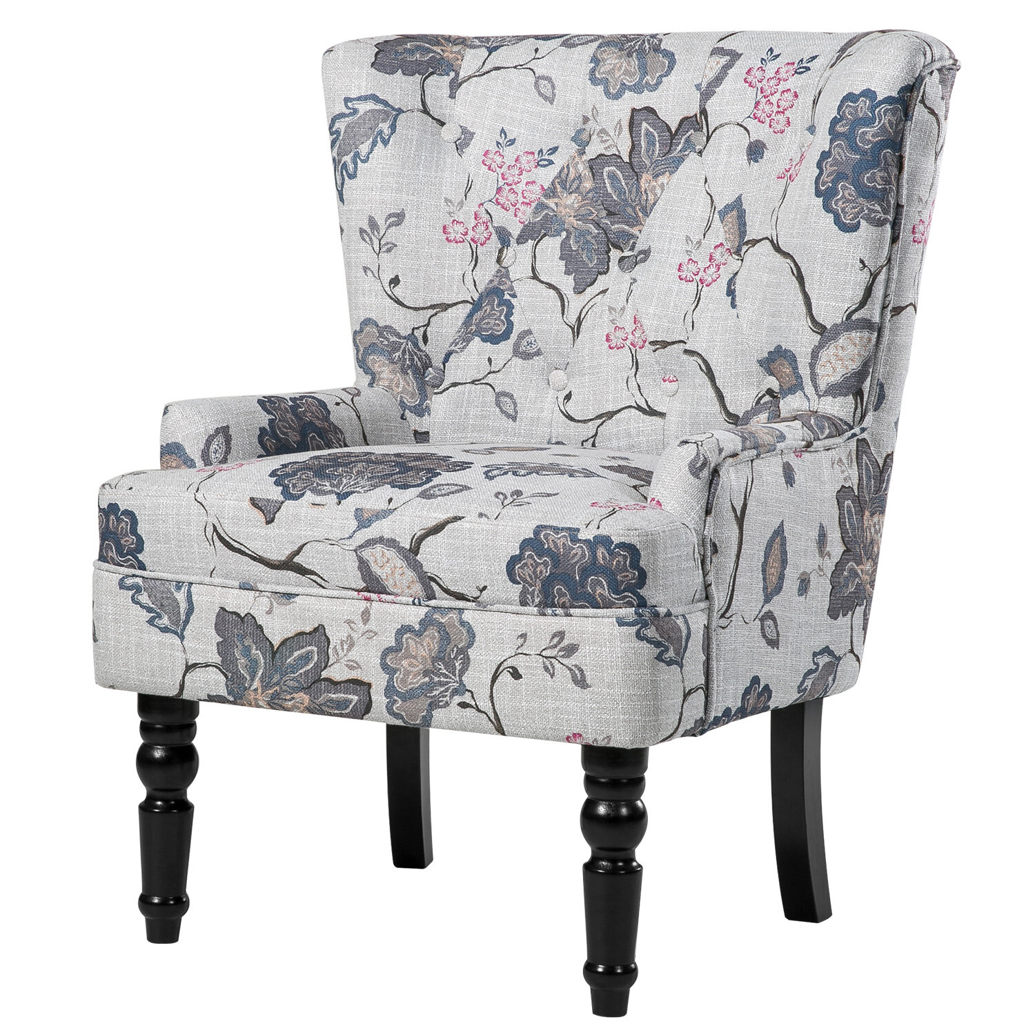One allium way renne wingback chair reviews wayfair jeuxipadfo Gallery