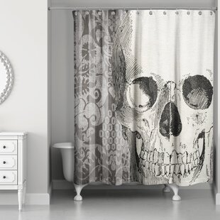 Skeleton's Head Single Shower Curtain