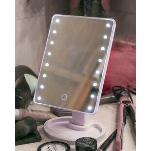 Dowdell 16 LED Beauty Make Up Rectangular Dresser Mirror By Ebern Designs