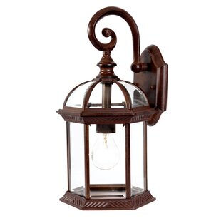 Compare prices Grenville 1-Light Outdoor Wall Lantern By Darby Home Co