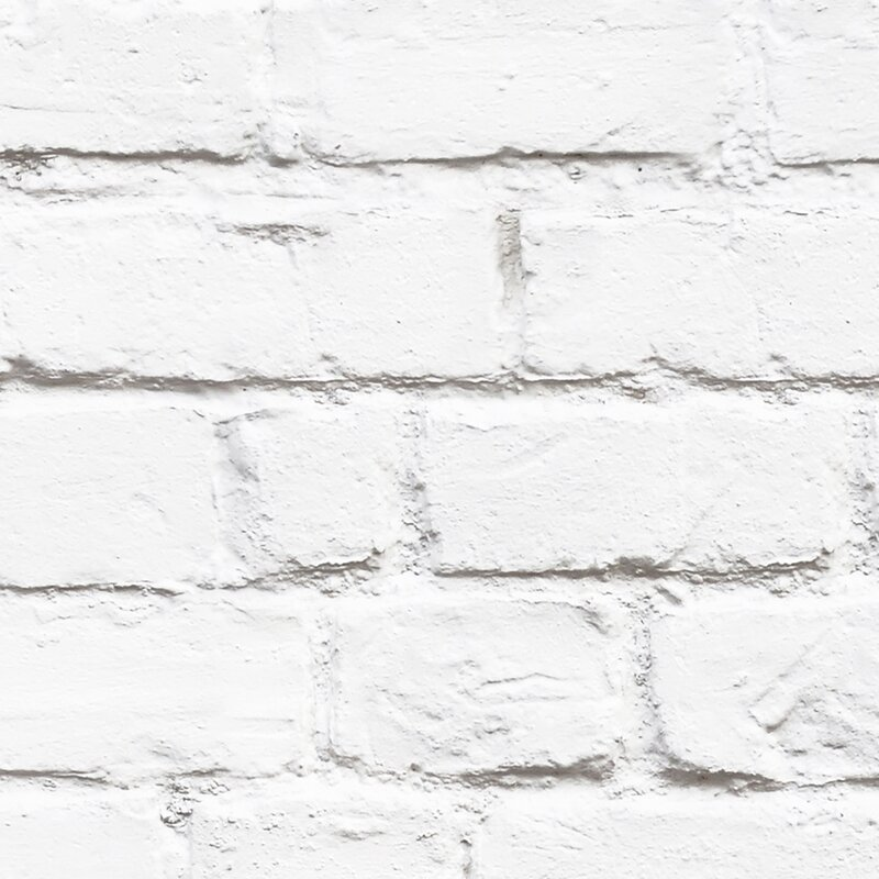 Simpleshapes White Brick 4 X 24 Wallpaper Panel Wayfair
