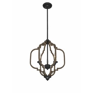 House of Hampton Robinette 3-Light Geometric Chandelier