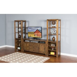 Alsatia Live Edge Pier Multimedia Storage Rack
