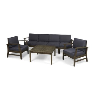Bridgers Outdoor 7 Piece Sofa Seating Group With Cushions by Foundry Select Coupon