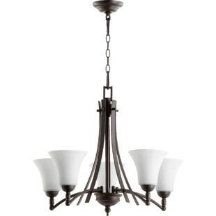 Eastchester Modern 5-Light Shaded Chandelier by Alcott Hill