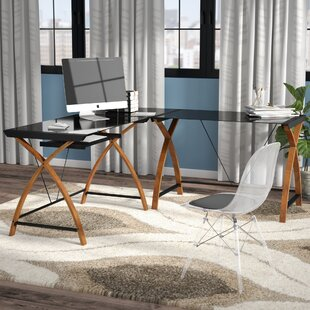 Latitude Run Buff Modern L-Shaped Desk