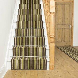 Abram Tufted Green Stair Runner Image